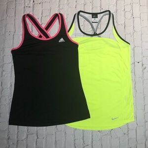2 Women's Dr-Fit Workout Tanks! Both size Small**